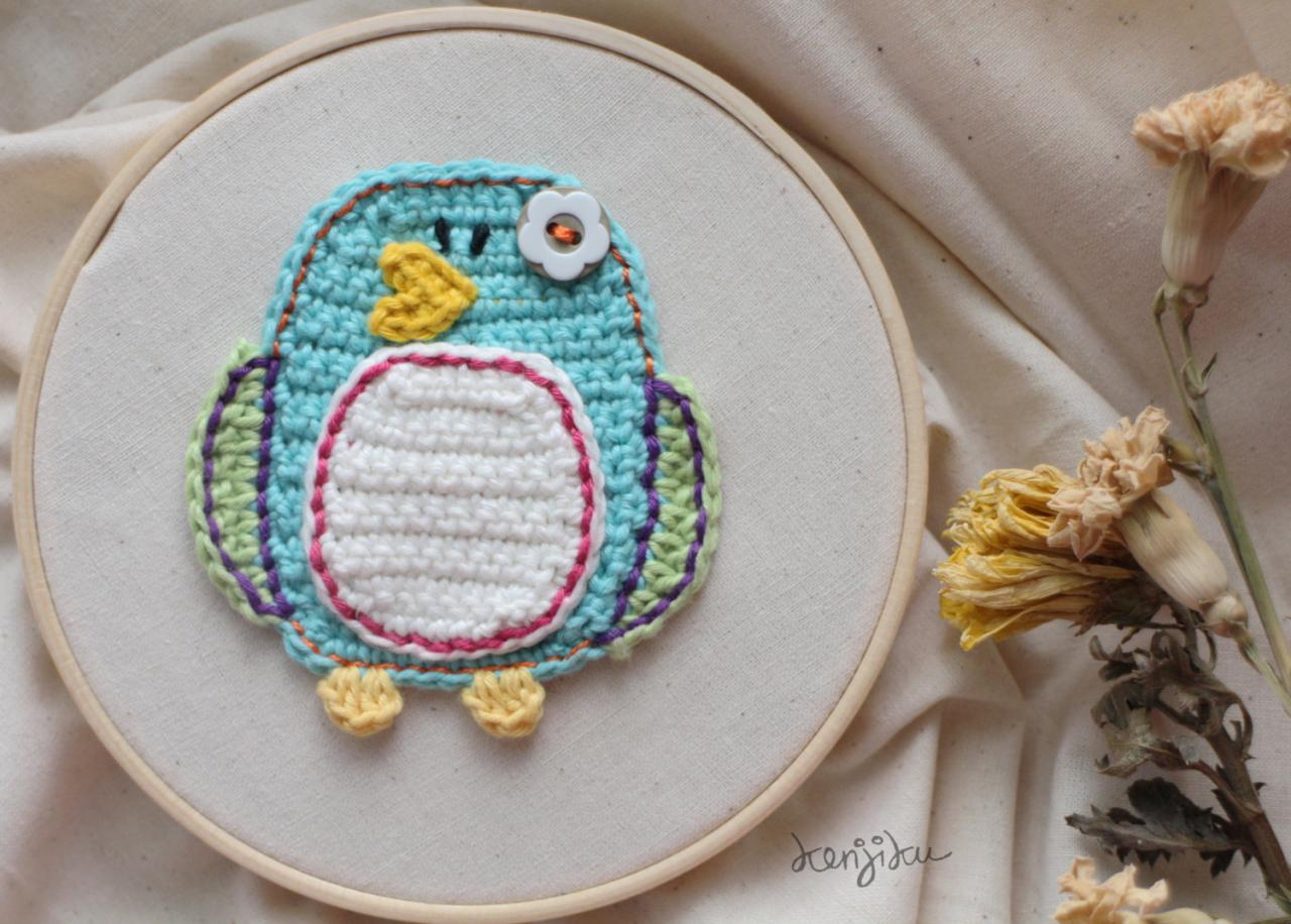 Little Penguin Crochet Pattern,DIY,Penguin Crochet Pattern, Penguin Crochet Applique, Crochet Penguin, Penguin Applique, Penguin Love