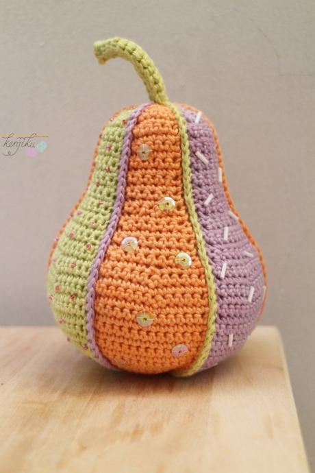 Pear Crochet Patchwork,Pear Amigurumi,Pear Pin Cushion, Pear Amigurumi Pattern, Pear Crochet Pattern, Pin Cushion, Fruit Pin Cushion