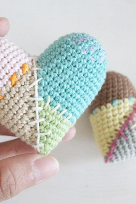 Heart Patchwork Amigurumi Pattern