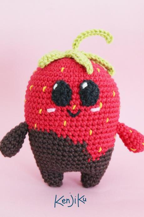 Dippy the Strawberry Dip Amigurumi Pattern, Strawberry PDF Pattern, Strawberry Amigurumi Pattern, Strawberry Amigurumi, Kawaii Strawberry